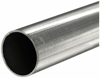 "304 Stainless Steel, Round Tube, OD: 3/8"", Wall: 0.035"", Length: 48"", (3 Pack)"