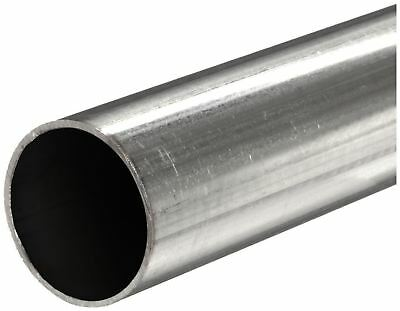 "316 Stainless Steel, Round Tube, OD: 3/8"", Wall: 0.035"", Length: 24"", Seamless"