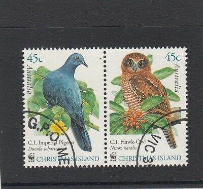 CHRISTMAS ISLAND 2011 BIRD Wildlife pair OWL & PIGEON   VFU,CTO.