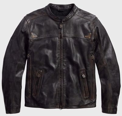 Harley Davidson Men's Willie G.Limited Edition Buffalo Leather Jacket-Med.