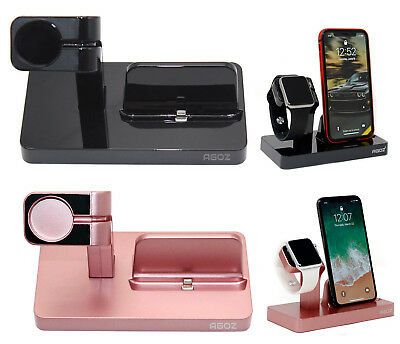 Charging Dock Station Charger Holder Stand For Apple® Watch Series 3 2 1 iPhone