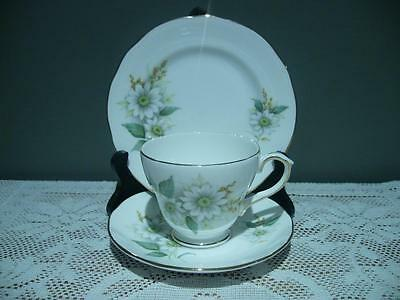 Duchess Bone China Floral Trio - Felicity - Cup Saucer Plate - Vintage High Tea