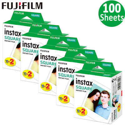 100 Sheets Fujifilm Instax SQUARE Film SQ10 Hybrid Camera SP-3 SQ Printer Photos