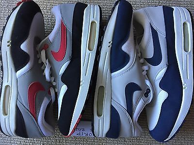 Lot of Two Pairs 2003 US12 Nike Air Max One Chili Obsidian NAVY AM 1 JORDAN BRED