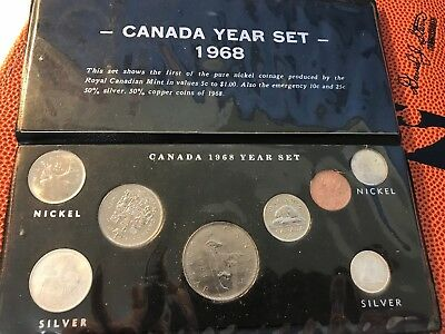 1968 Canada Uncirculated Year Set  All 8 Coins look mint