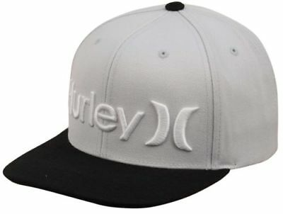 NWT HURLEY One & Only SNAPBACK HAT The Classics Yupoong BLACK GRAY Adult OS