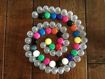 """50 Empty 1"""" Acorn Vending Machine Capsules Stuff with toys party favors, jewelry"""