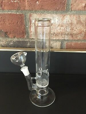 Hookah Water Pipe Bong Glass 10 inch double percolators with ice catcher grinder