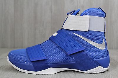 detailed look 44448 9f67b 26 New Nike Lebron LBJ Soldier 10 TB Promo Mens 14 White Blue Shoes 856489  441