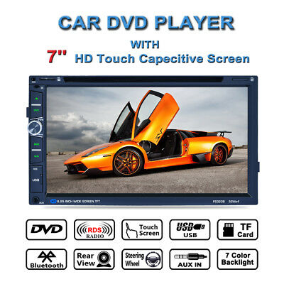 "7"" 2DIN AUTORADIO FM STEREO AUTO MP5 MP3 BLUETOOTH AUX/TF Touch SCREEN NUOVO EU"