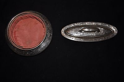 Tiffany & Co. Sterling Silver Nail Buffer and Powder Holder Case Antique