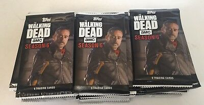 2017 Topps: LOT OF 30 THE WALKING DEAD SEASON 6 UNOPENED TRADING CARD PACKS