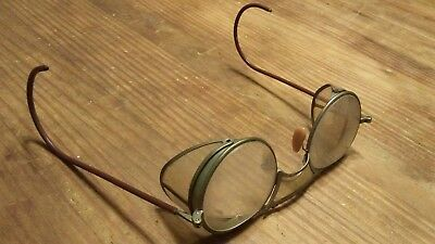 Vintage Bausch & Lomb Motorcycle Goggles Safety Glasses Antique Steampunk