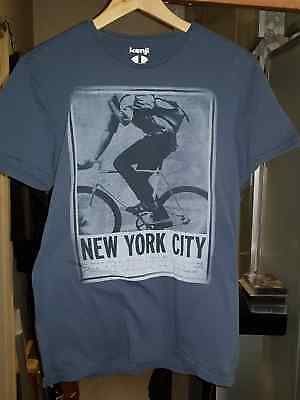 As New Kenji Mens Fashion T Shirt New York  Size Small RRP $29.95