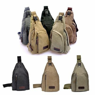 Men's Small Chest Sling Bag Travel Hiking Cross Body Messenger Shoulder Backpack