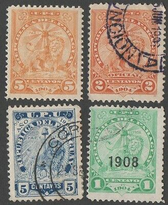 Paraguay. 1905 -1908 Coat of Arms. Cancelled