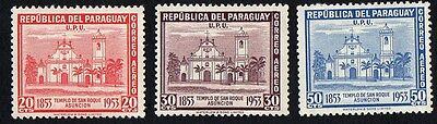 Paraguay.  1954 Airmail - The 100th Anniversary of San Roque Church in Asu.  MLH