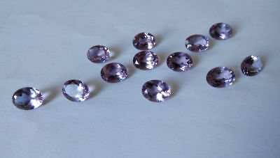 100% Color Change Lab created Pink Alexandrite Oval Cut 9 x 7 mm