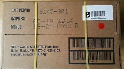 US ARMY MRE  US rations meal ready to eat camping survival CASE B