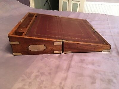 Victorian Writing Slope With Secret Drawers And Working Lock And Key