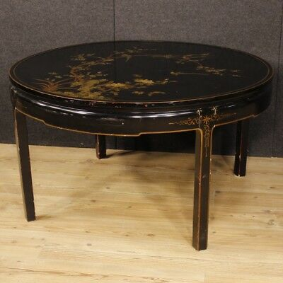 Table lacquered chinoiserie furniture living room wood antique style 900 cabinet