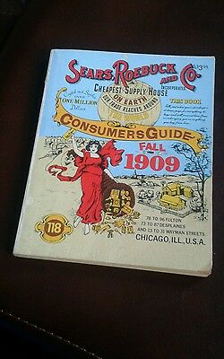 Vintage Sears Roebuck and Co. Consumers Guide Fall 1909 - Copyright 1979