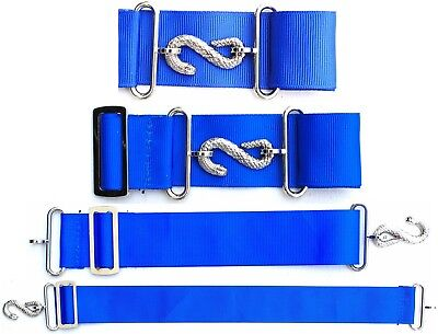 Apron Belt Extender Extension For Masonic Aprons Blue/silver