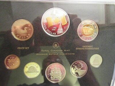 2005 Canada Silver Proof set, 40th anniversary Canada National Flag