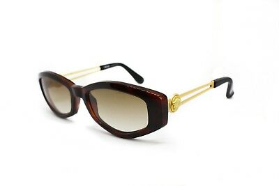 feaf91d208 Gianni VERSACE mod. 343 A vintage 1990s womens sunglasses thick brown  acetate