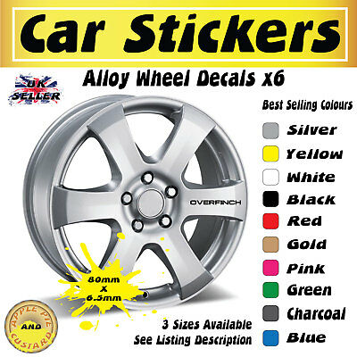 Range Rover Overfinch 6x Alloy Wheel Stickers Decals 80mm x 6.5mm Free UK Post