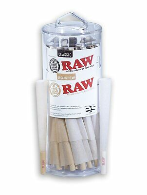 RAW King Size Organic and Classic Pre-Rolled Cones with Filter Tips 25 Classic