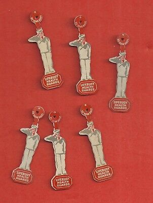 1940's Lifebuoy Health Guard - lapel pin  - Lot of 6