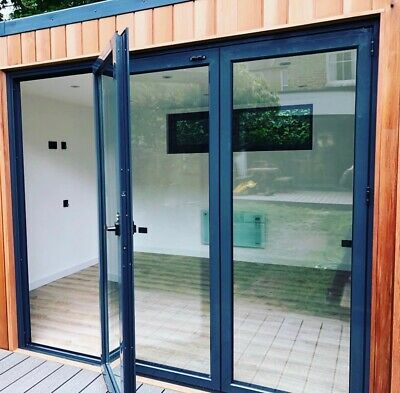 New, Quality Aluminium Bi fold Doors inc Glass 3 panels. Look At FB