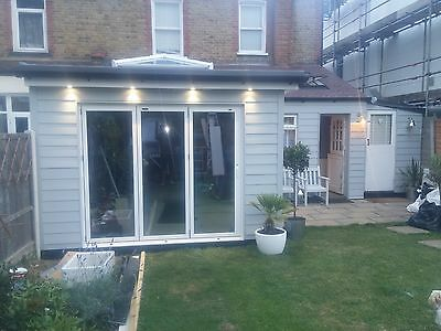 New, Quality Aluminium Bi fold Doors inc Glass 3 panels White.