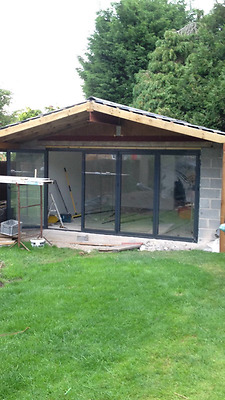 New, Quality Aluminium Bi fold Patio Doors inc Glass 4 panels.