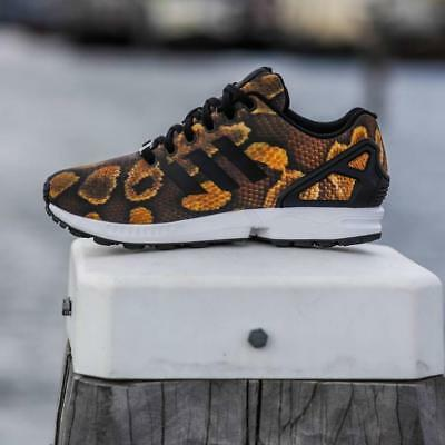 best sneakers 130c8 c2c95 adidas Originals Womens ZX Flux Snake print Trainers UK 3.5 - 6.5 sneakers  shoes