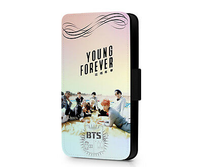 Bangtan Boys BTS Kpop Young Forever Faux Leather Flip Phone Case Cover Wallet