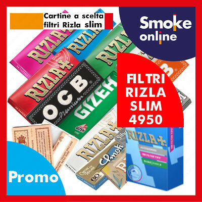 CARTINE CORTE RIZLA OCB ENJOY GIZEH BRAVO REX  SMOKING e 4950 FILTRI RIZLA SLIM
