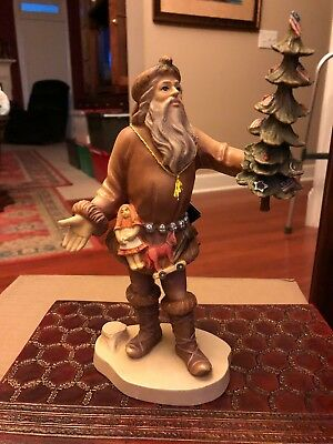 """Duncan Royale,""""PIONEER SANTA"""", Hand Carved & Painted in Italy by Dolphi/RARE"""