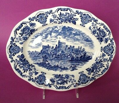 Wedgwood - Royal Homes Of Britain Serving Platter - Blue And White Castle