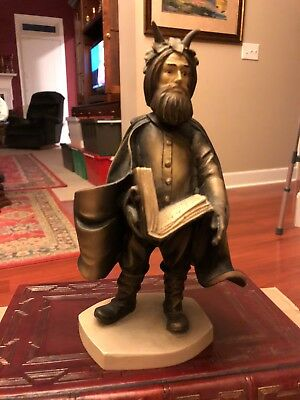 """Duncan Royale,""""BLACK PETER SANTA"""", Hand Carved & Painted in Italy by Dolphi ."""
