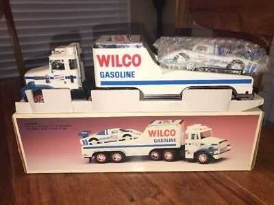 Vintage 1992 Wilco, Toy Truck and Racer Car, Wilco Gasoline, New  in Box (AB)