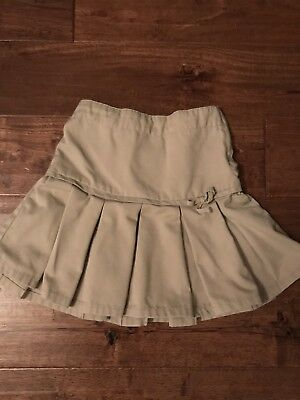 Girl's Gymboree Khaki Uniform Skirt In Size 5 Adjustable Waist