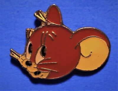 Tom And Jerry - Cat & Mouse Cartoon - Vintage 1991 Turner Ent. Lapel Pin - Jerry