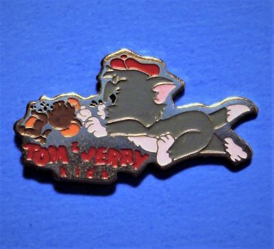 Tom And Jerry Kids - Cat & Mouse Cartoon - Vintage 1991 Turner Ent. Lapel Pin