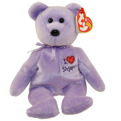 TY Beanie Baby - SINGAPORE the Bear (I Love Singapore - Asia-Pacific Excl) MWMT