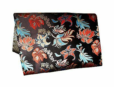 Custom-Made in USA, Art Silk Throw or Bed Scarf, Black (6112)