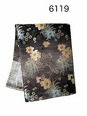 Custom-Made in USA, Art Silk Throw or Bed Scarf, Black (6119)