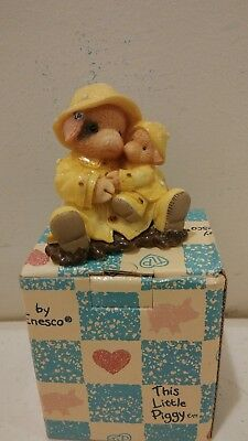 Enesco This Little Piggy Showering You With Hogs Figurine 1995 NIB 159638