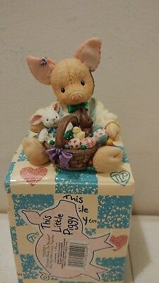 Enesco This Little Piggy Figurine Easter sure is Su-eet NIB 1995